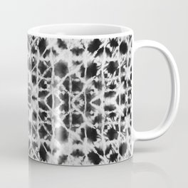 Shibori black stripes crosses Coffee Mug