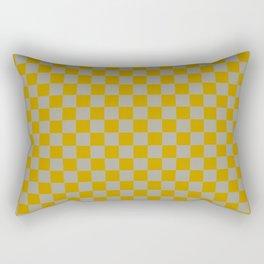 Golden Check Rectangular Pillow
