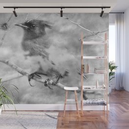 Knowing It Has Wings bw Wall Mural