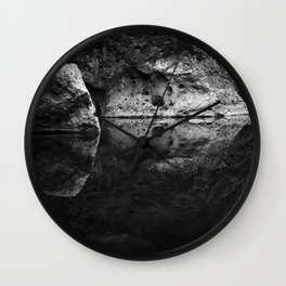 Boulder Reflection on Water Wall Clock