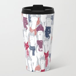 Happy llamas Christmas Choir III Travel Mug