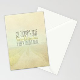 All Journeys Have Secret Destinations  Stationery Cards