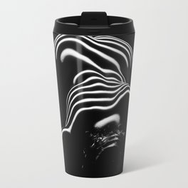 0686-AR BW Contemporary Art Nude Large Woman BBW Graceful and Strong Travel Mug