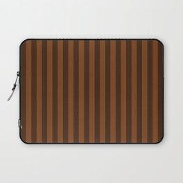 Chocolate Brown Stripes Pattern Laptop Sleeve