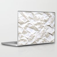 glitch Laptop & iPad Skins featuring White Trash by pixel404