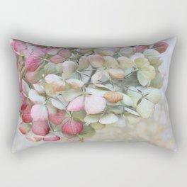 Pastel Dried Hydrangea Rectangular Pillow