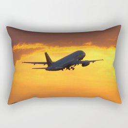 Airliner Sunset Takeoff Rectangular Pillow