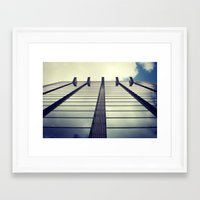 suits Framed Art Prints featuring Uncomfortable suits by Laura B. Fernandez