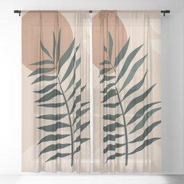 Minimalist Abstract 35 Sheer Curtain