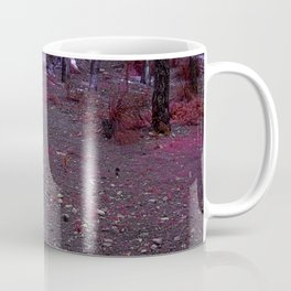 Alien planet purple forest in the night bright lights Coffee Mug