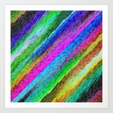 Colorful digital art splashing G478 Art Print