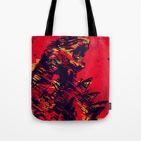 monster Tote Bags featuring Monster by Balazs Pakozdi