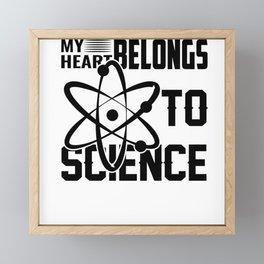 MY HEART BELONGS TO SCIENCE Framed Mini Art Print
