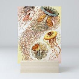 SEA CREATURES COLLAGE-Ernst Haeckel Mini Art Print