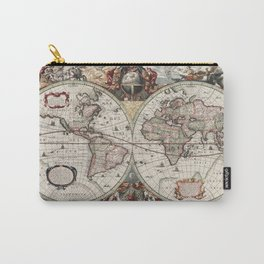 Vintage Maps Of The World Carry-All Pouch