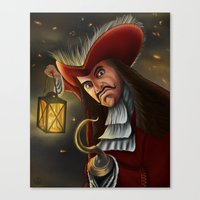 captain hook Canvas Prints featuring Hook by WITHDRAWN