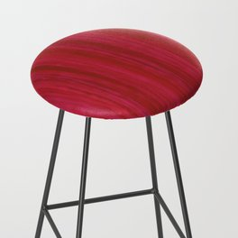Strawberry Colored Vertical Stripes Bar Stool