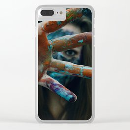 Peeling Paint Clear iPhone Case