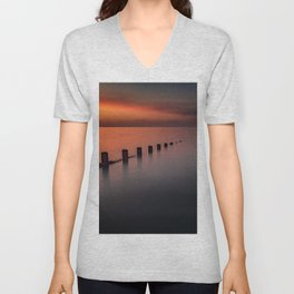 Seascape Sunset Unisex V-Neck