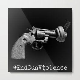#EndGunViolence Metal Print
