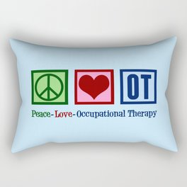 Peace Love Occupational Therapy Rectangular Pillow