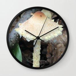 Pointed cap Mushroom Wall Clock