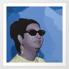 Umm Kulthum Art Print