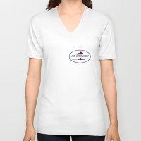 kentucky V-neck T-shirts featuring Air Kentucky by FunnyFaceArt