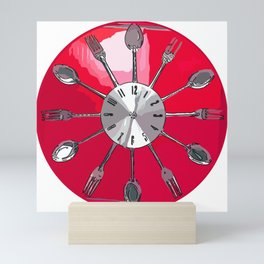 Cutlery O'clock 2. Mini Art Print