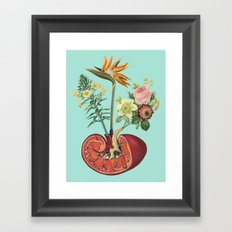 Kidney on Drugs Framed Art Print
