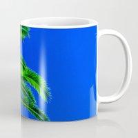 palm tree Mugs featuring Palm Tree by Phil Smyth