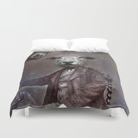 law Duvet Covers featuring jungle law by ppatphoto