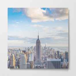 New York city skyline with Empire State Building Metal Print