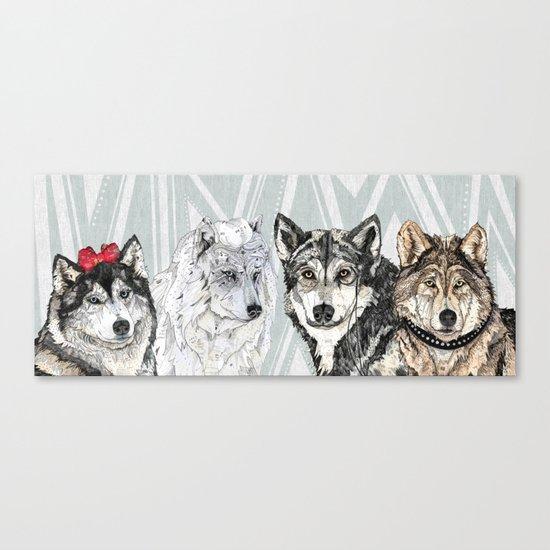 Wolf Family Portrait Canvas Print