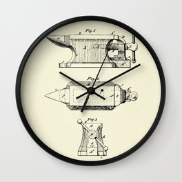 Combined Anvil and Vise-1877 Wall Clock