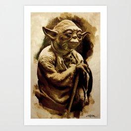 Grand Master Yoda Art Print