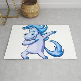 Dabbing Unicorn - Dab Hip Hop Funny Magic Rug