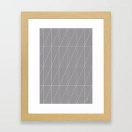 Grey Triangles by Friztin Framed Art Print