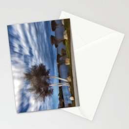 Birch tree by the pond Stationery Cards