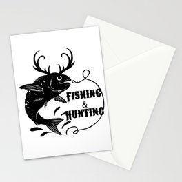 Fishing And Hunting Stationery Cards