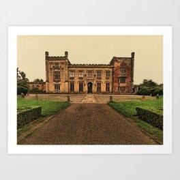 A splendid past. Elvaston Castle, Derbyshire Art Print