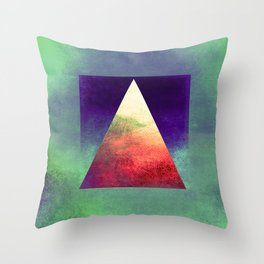 Triangle Composition VII Throw Pillow