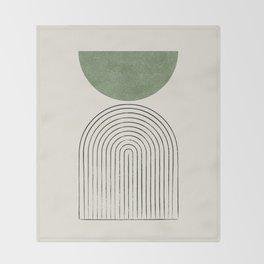 Arch balance green Throw Blanket