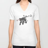 venom V-neck T-shirts featuring Venom by Megan Yiu