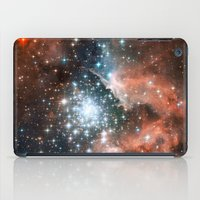 nasa iPad Cases featuring Bright nebula stars galaxy hipster geek cool space Nasa orange nebulae photograph by iGallery