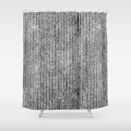 Stockinette Black Shower Curtain