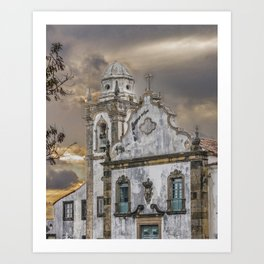 Exterior Facade Antique Colonial Church Olinda Brazil Art Print