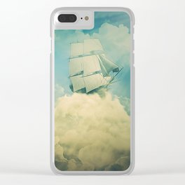 Air floating boat Clear iPhone Case