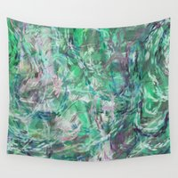 mermaids Wall Tapestries featuring MERMAIDS SONG by mimulux