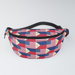 Mix of flag : philippines and Usa Fanny Pack